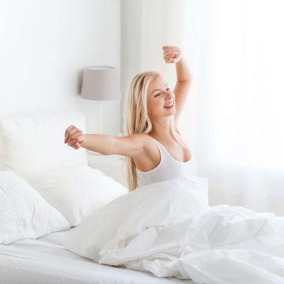 Gesunder schlaf reduziert den Stress.