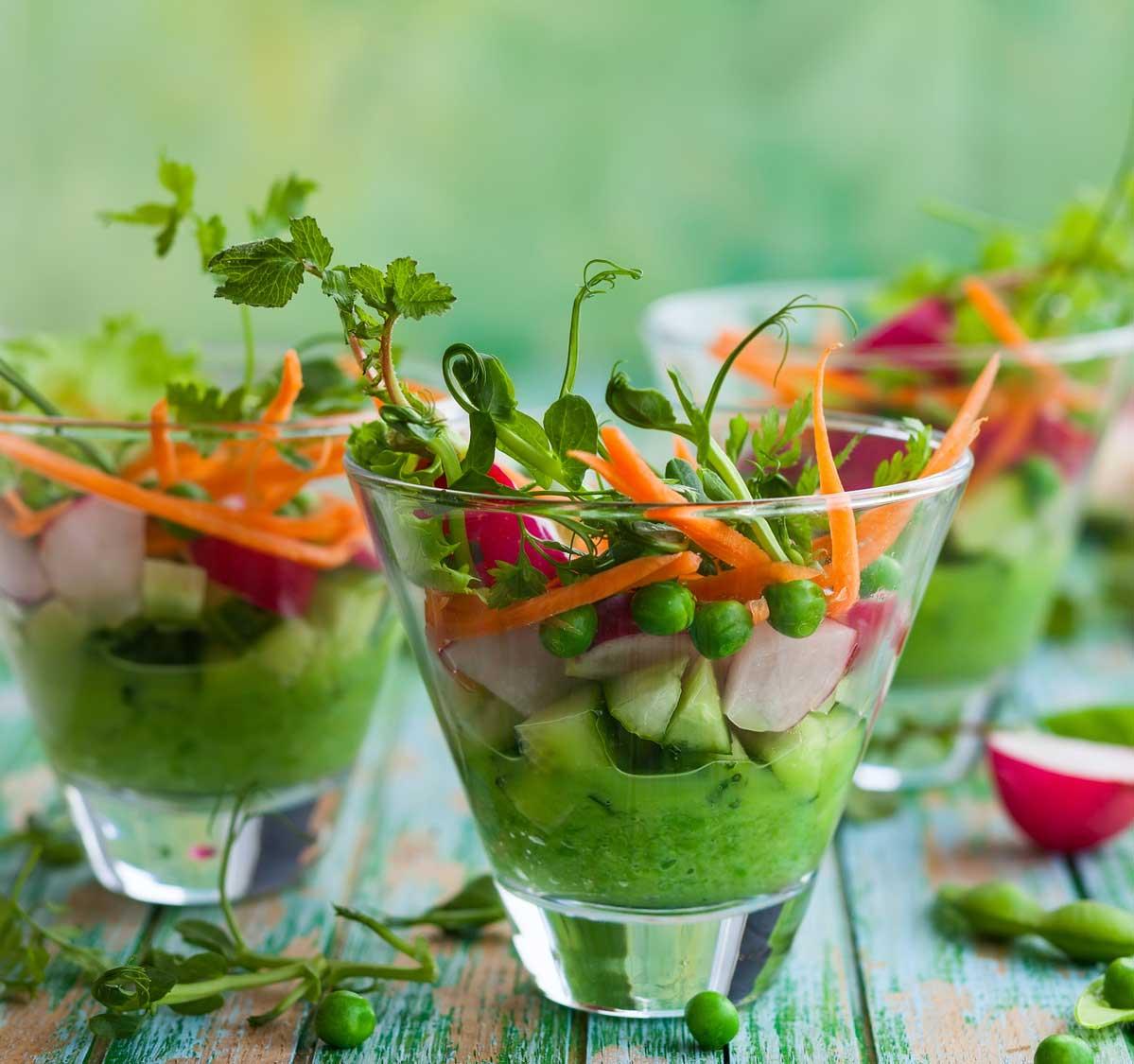 Gesund essen schmeckt gut und sieht gut aus