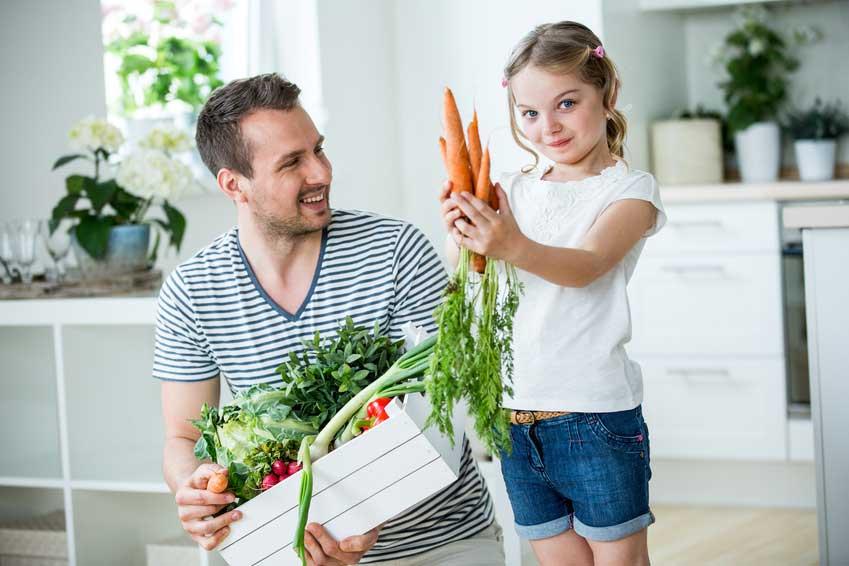 Karotten schmecken roh am Besten.
