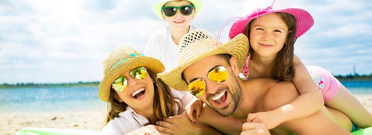 Gesund und gluecklich mit starkem Sonnenschutz