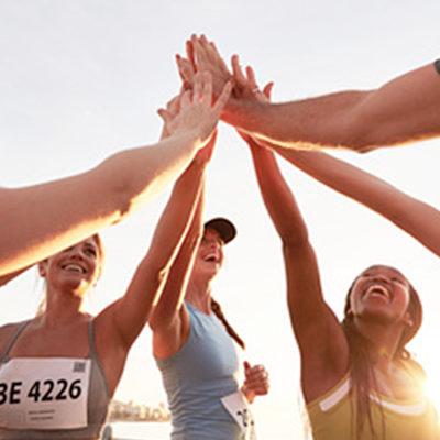 Ziele setzen und als Team erreichen! im Sport wie auch im Job.