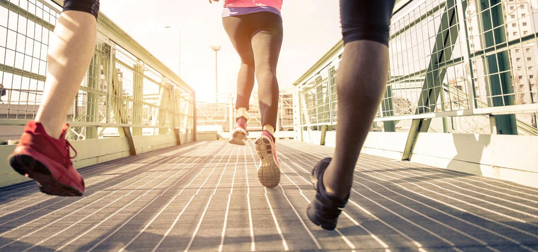 Laufen macht Spaß.