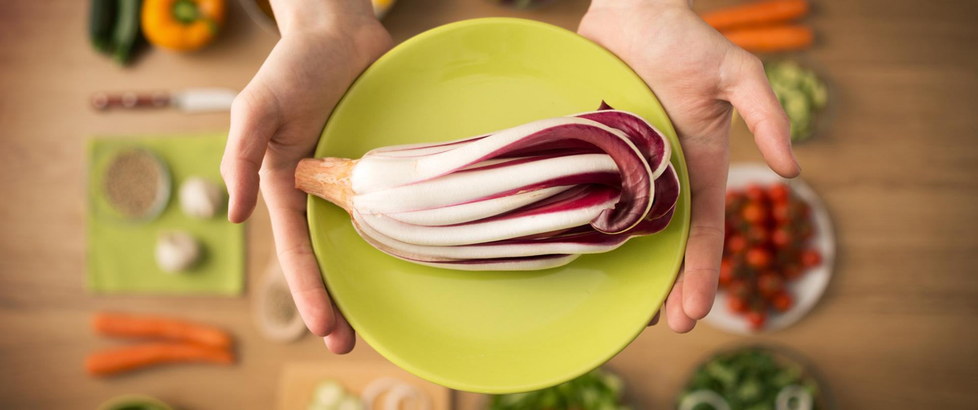 Gemüse besitzt viele Ballaststoffe.