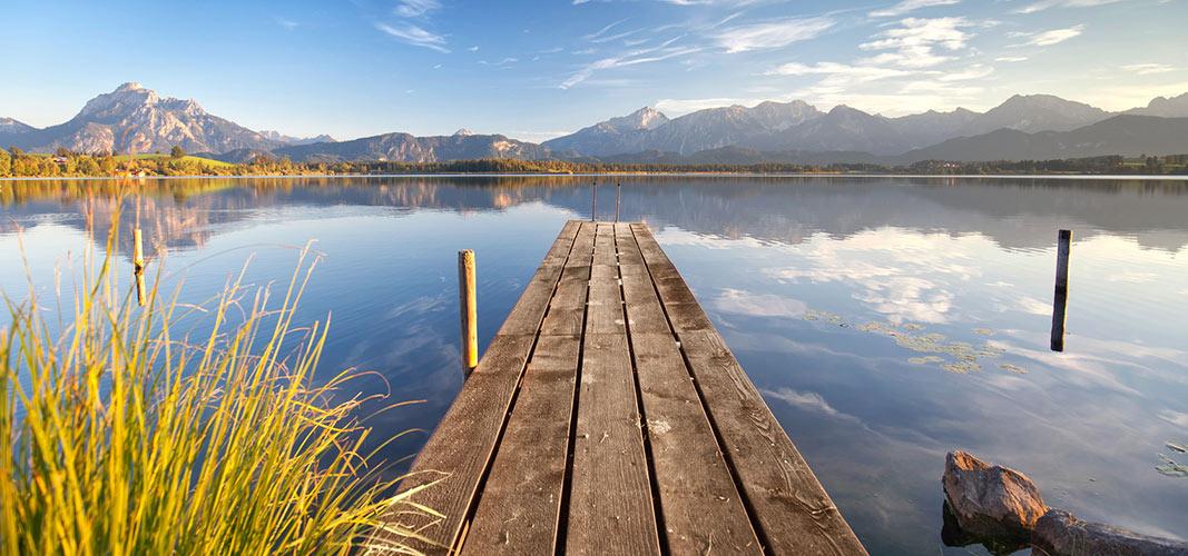 Entspannung an einem der schönen Seen des Allgäus.
