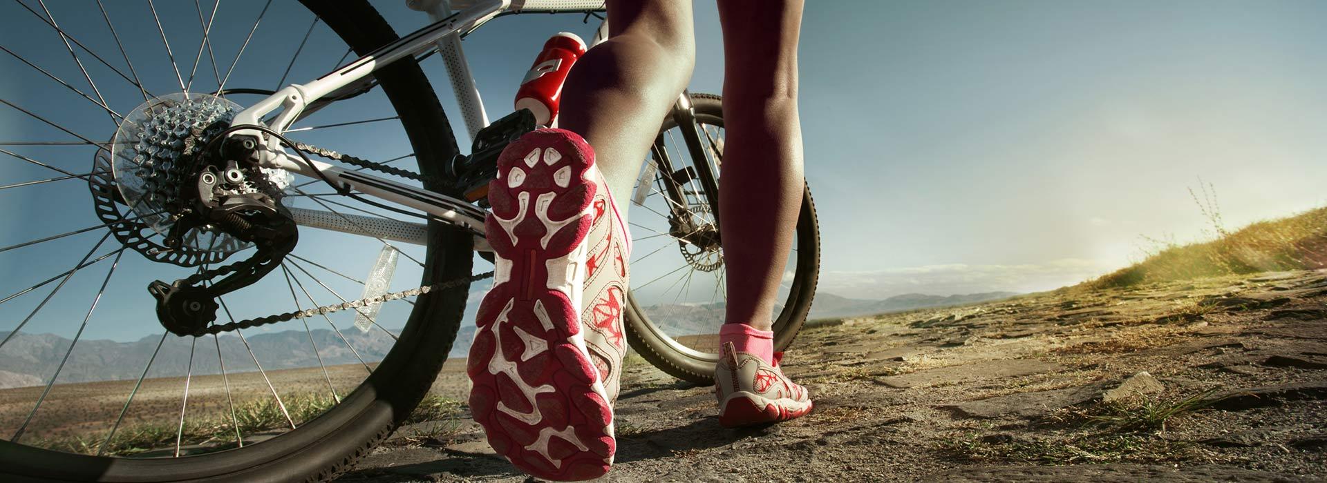 Radfahren ist super für den Körper.