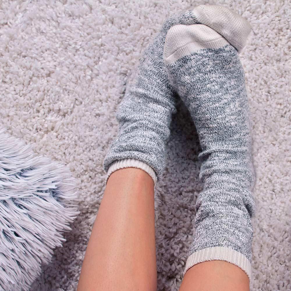 Gepflegte Füße im Winter.