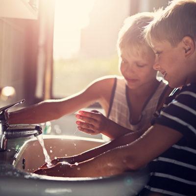 Immer schön die Hände waschen.