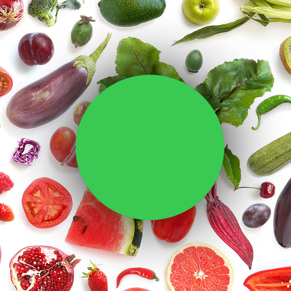 Grüne Lebensmittel sind Obst, Gemüse, Hülsenfrüchte und Bohnen.