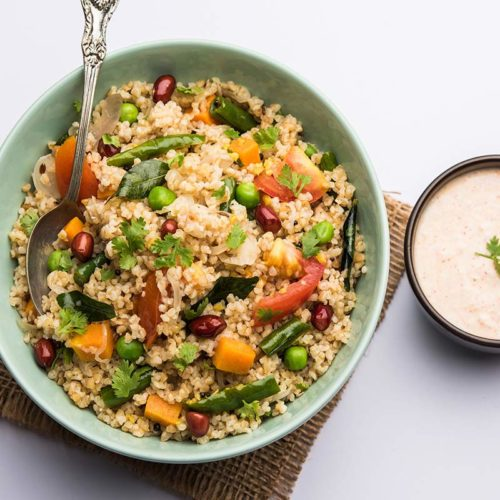 Couscous mit Gemüse.