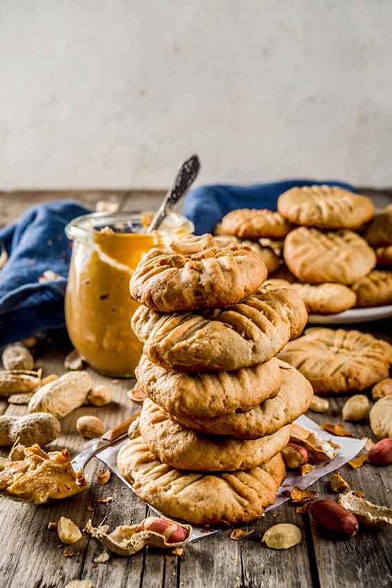 Erdnussbutter-Kekse für X-Mas