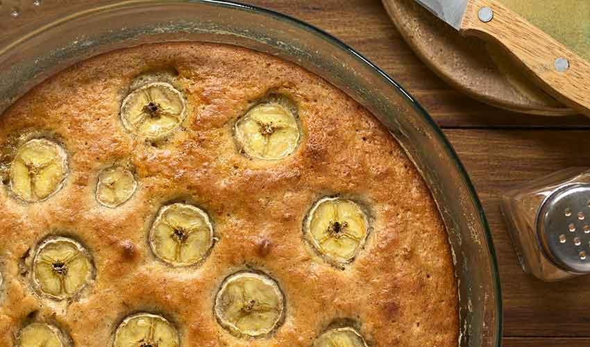 fruehstuecksrezepte und kuchen, Bananenbrot und Schokoladenkuchen