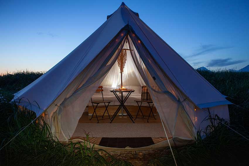 Glamping, Camping, Unterkunft, Luxusurlaub, Urlaub, Luxus, Natur