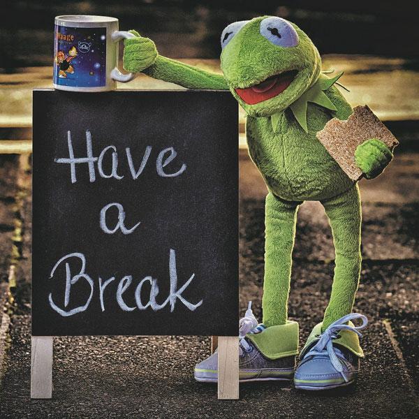 Kermit macht Pause