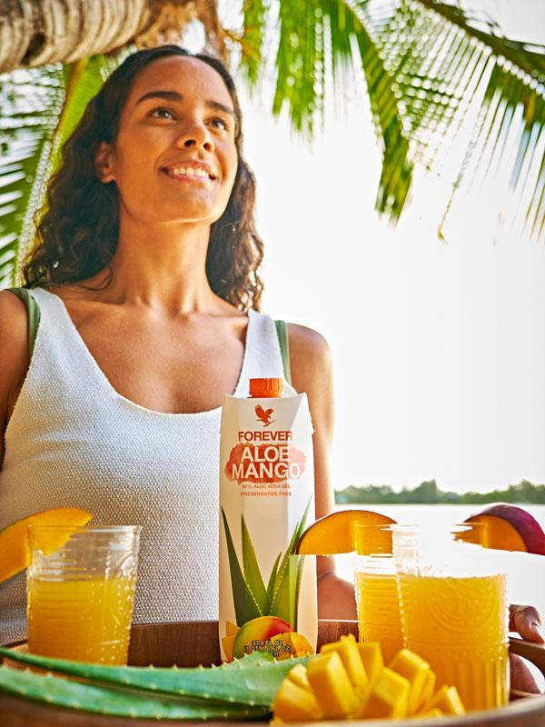 Tropensommer mit Mangodrink