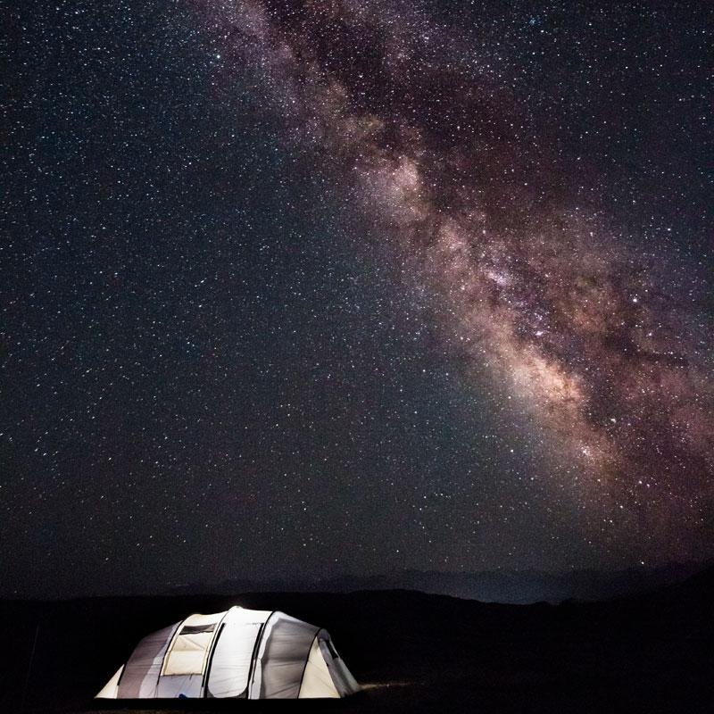Unter den Sternen schlafen Bucket List 21