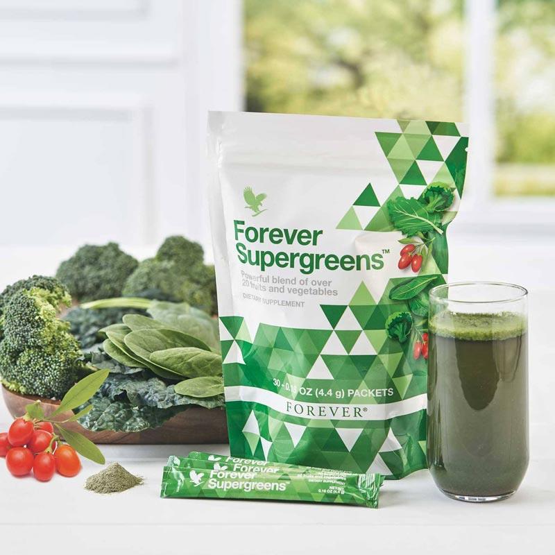 Forever Supergreens ist voller wertvoller Vitamine