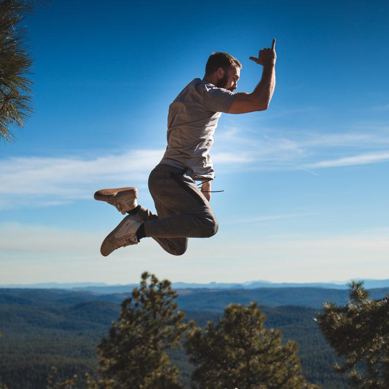 Sprung in der Luft